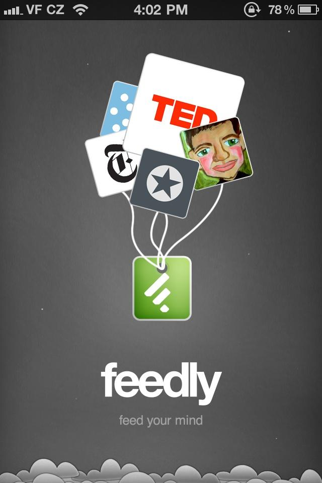 Feedly: Your Google Reader, Youtube, Google News, RSS News Reader  启动页