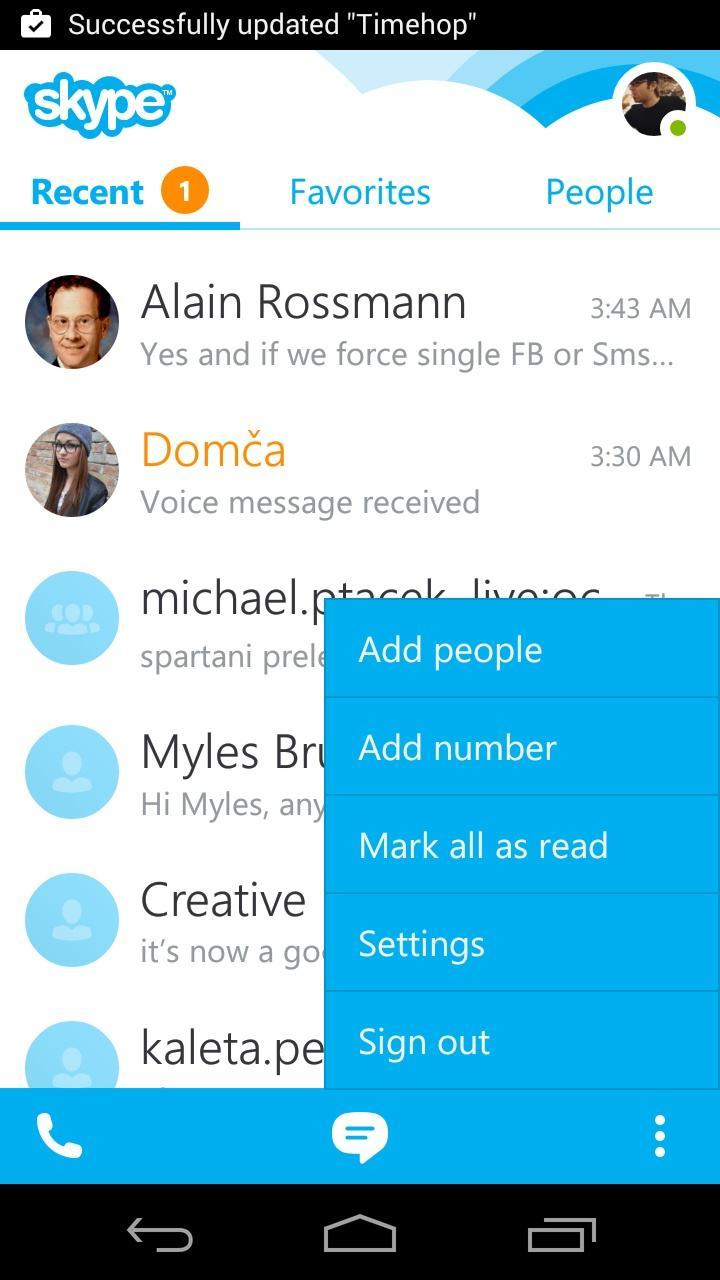 Skype - free IM & video calls  浮层