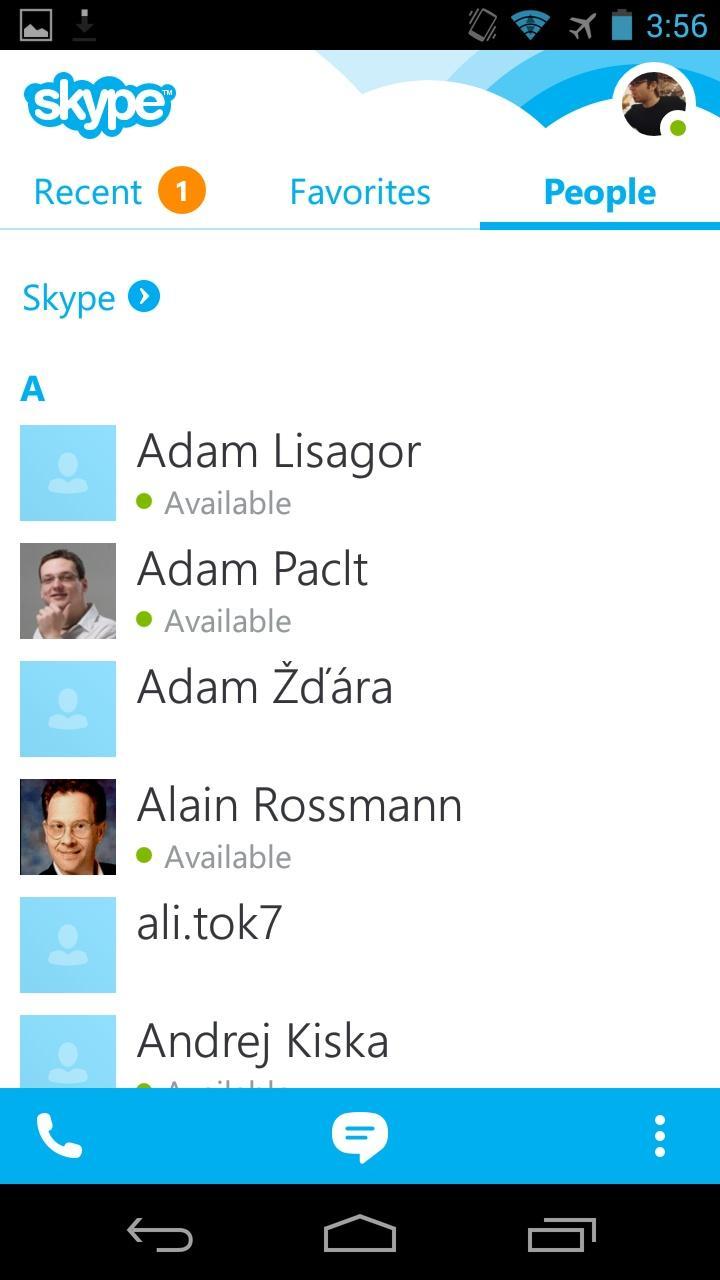 Skype - free IM & video calls  列表