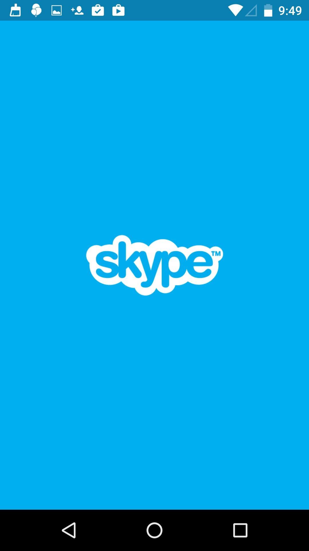 Skype - free IM & video calls  启动页