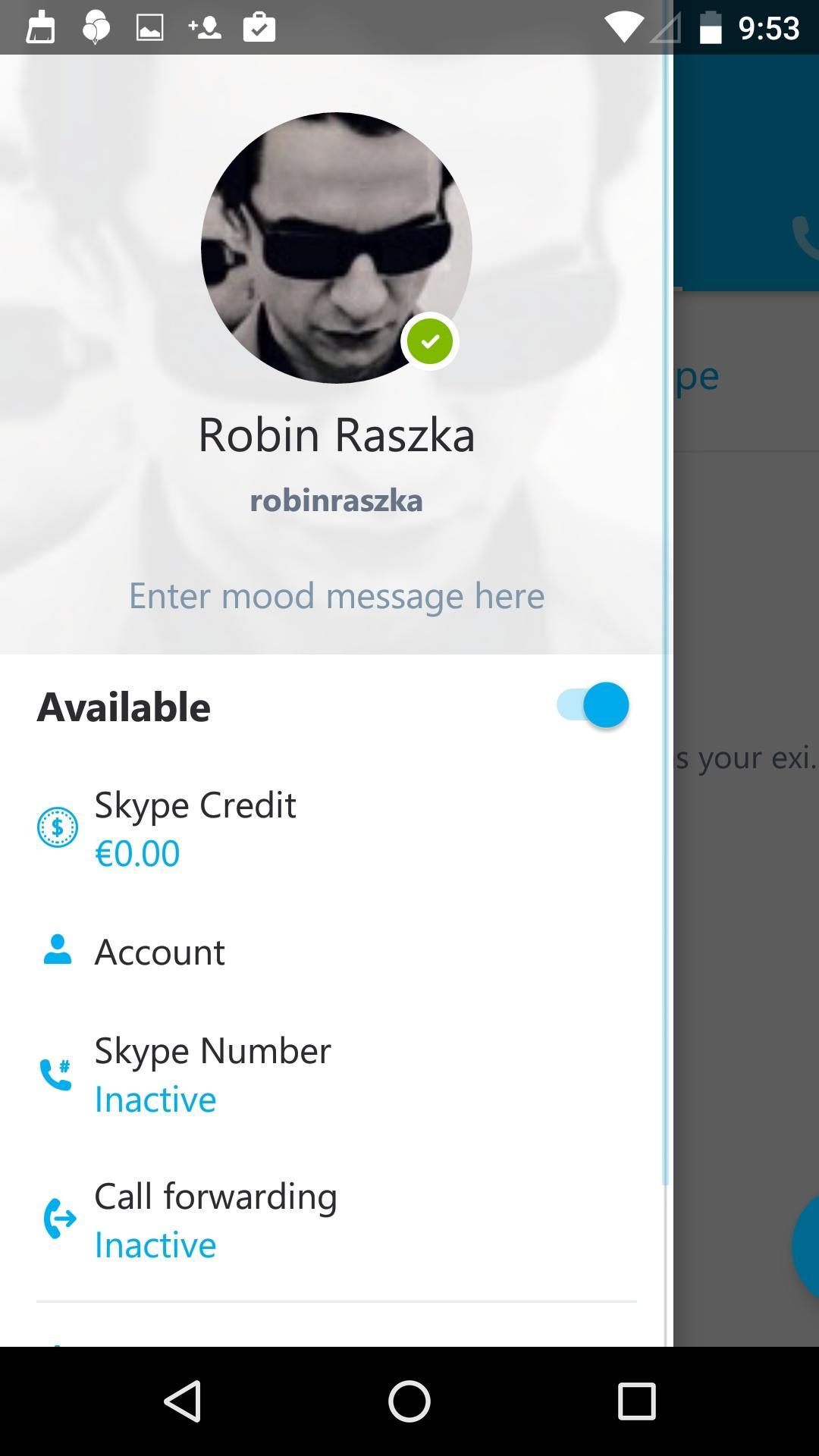 Skype - free IM & video calls  侧边栏
