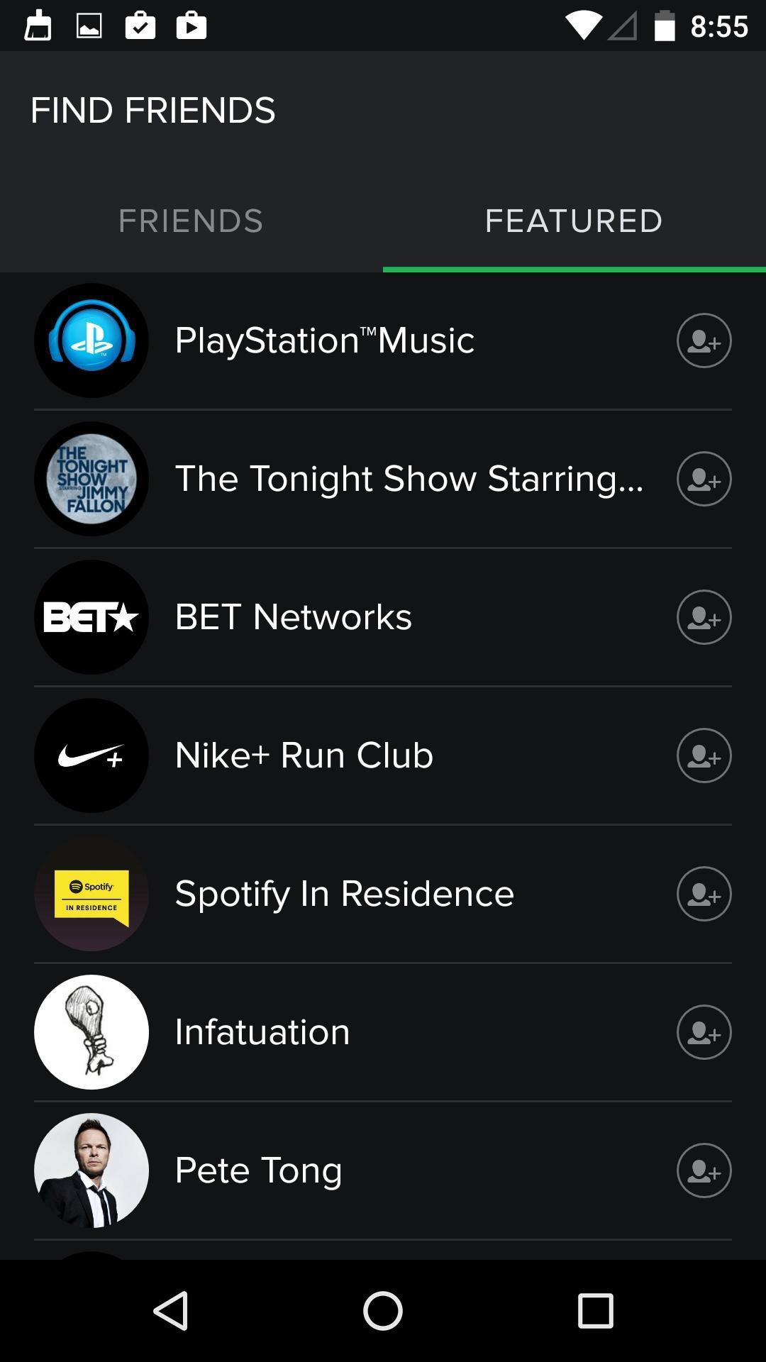 Spotify Music  查找好友