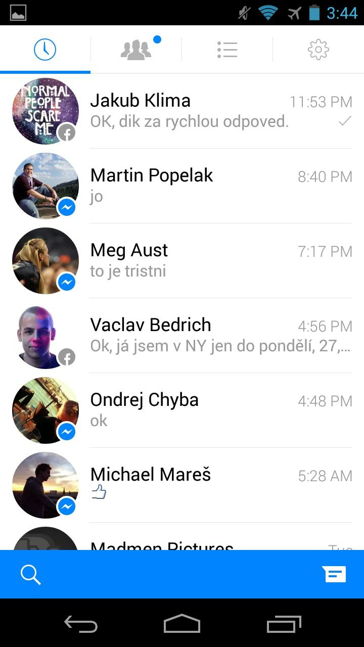 Messenger  列表