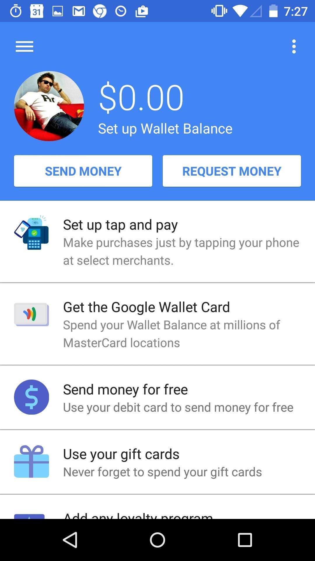 Google Wallet  个人资料
