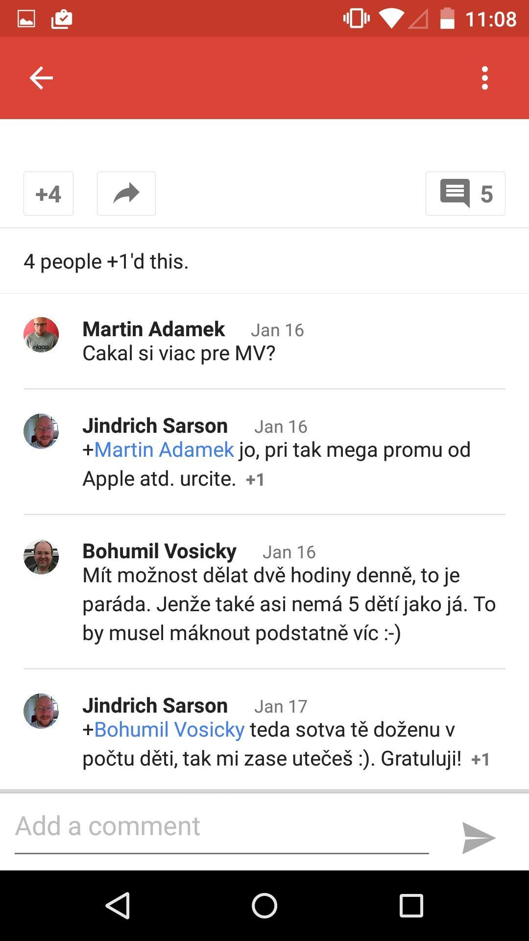 Google+  评论