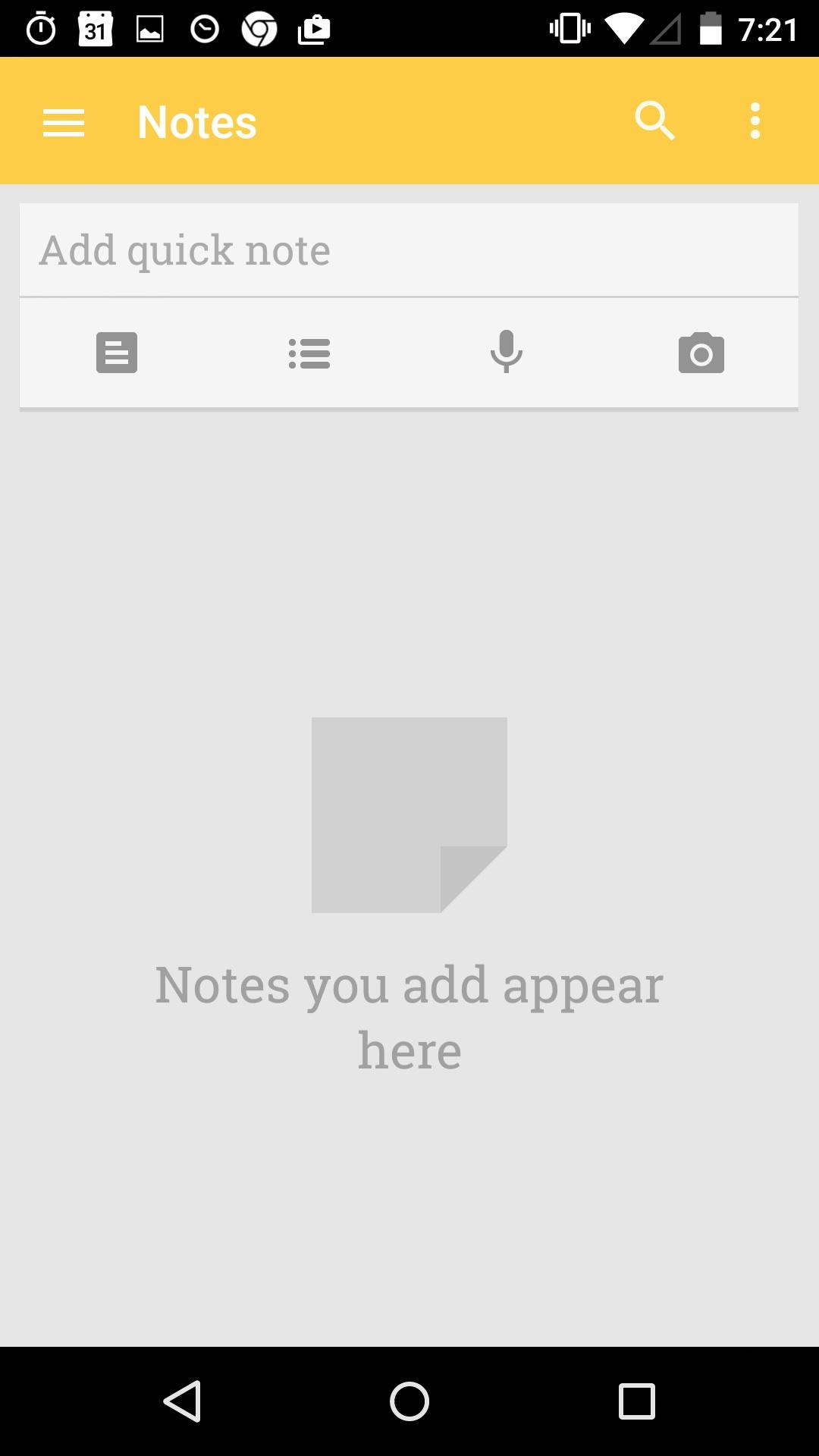 Google Keep - notes and lists  空状态
