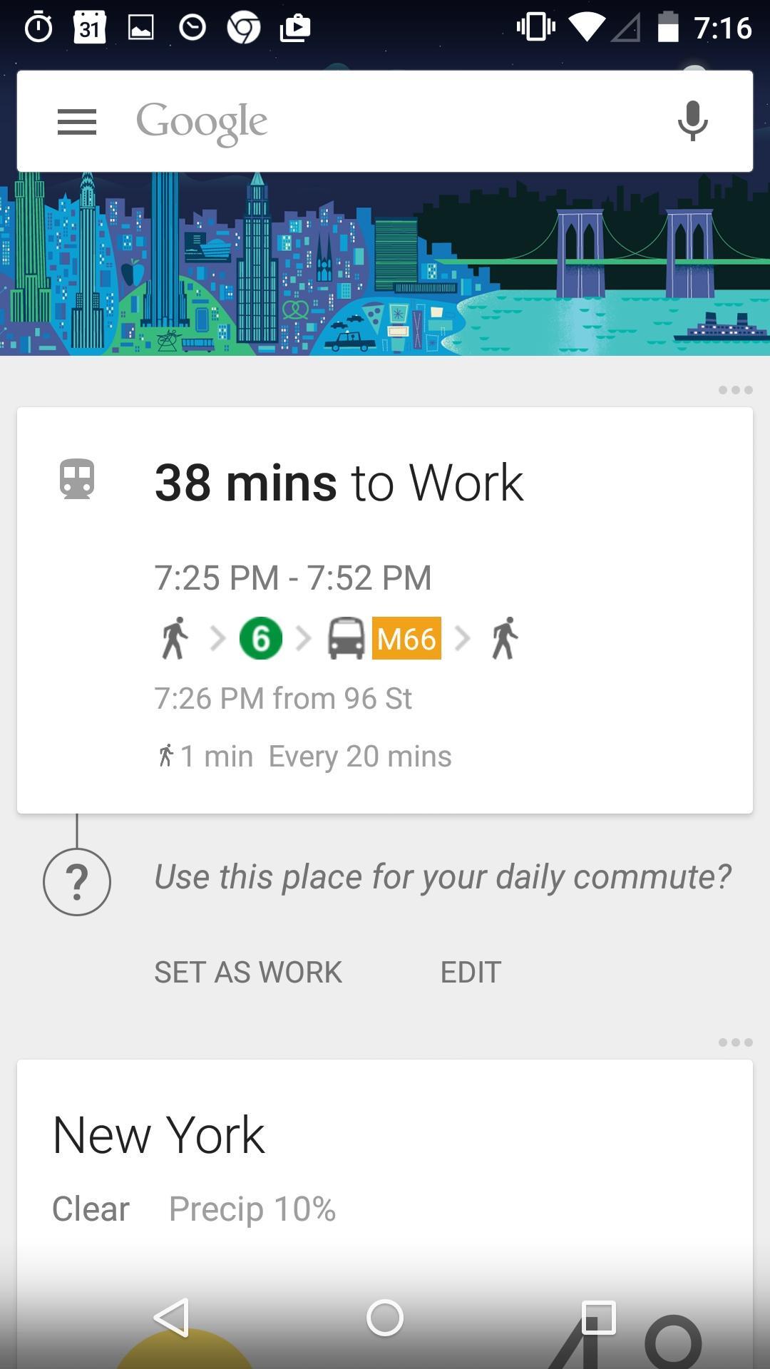 Google Now Launcher  卡片