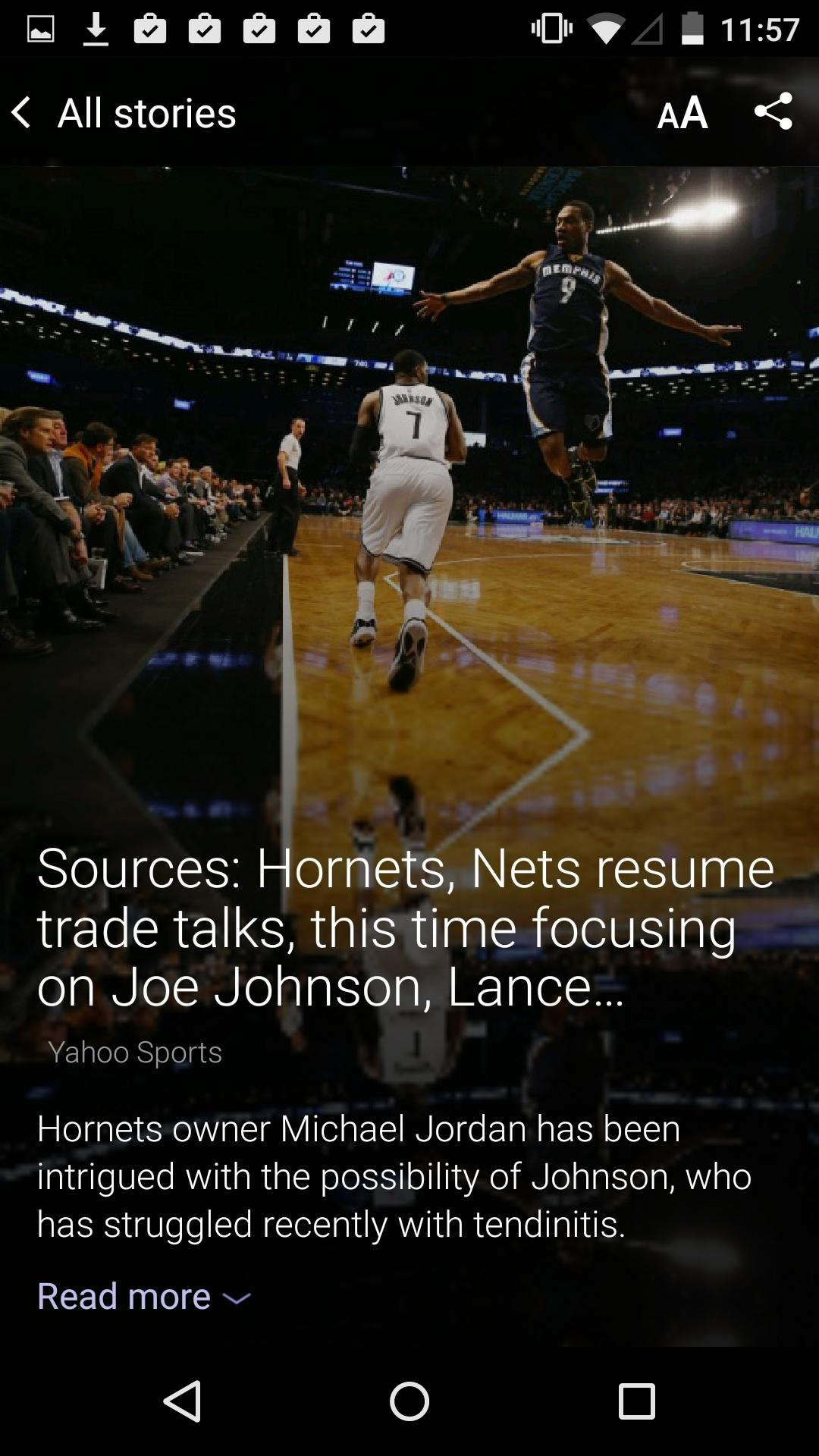 Yahoo Sports  内容页