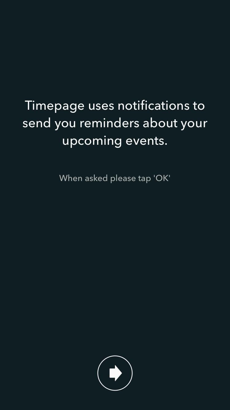 Moleskine Timepage – Calendar for iCloud, Google & Exchange  请求许可