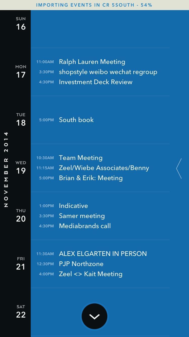 Moleskine Timepage – Calendar for iCloud, Google & Exchange  日历