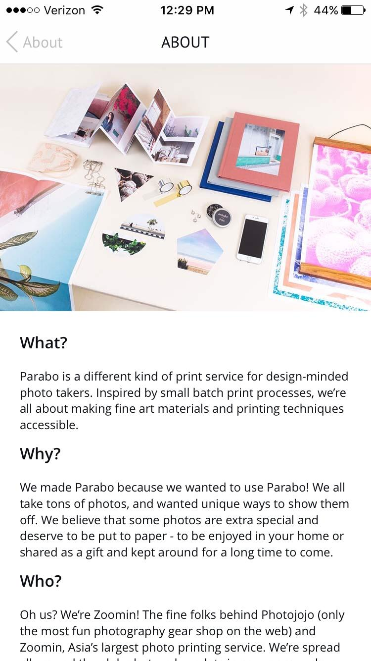 Parabo Press: Photo Prints, Books, Cards & Display  关于