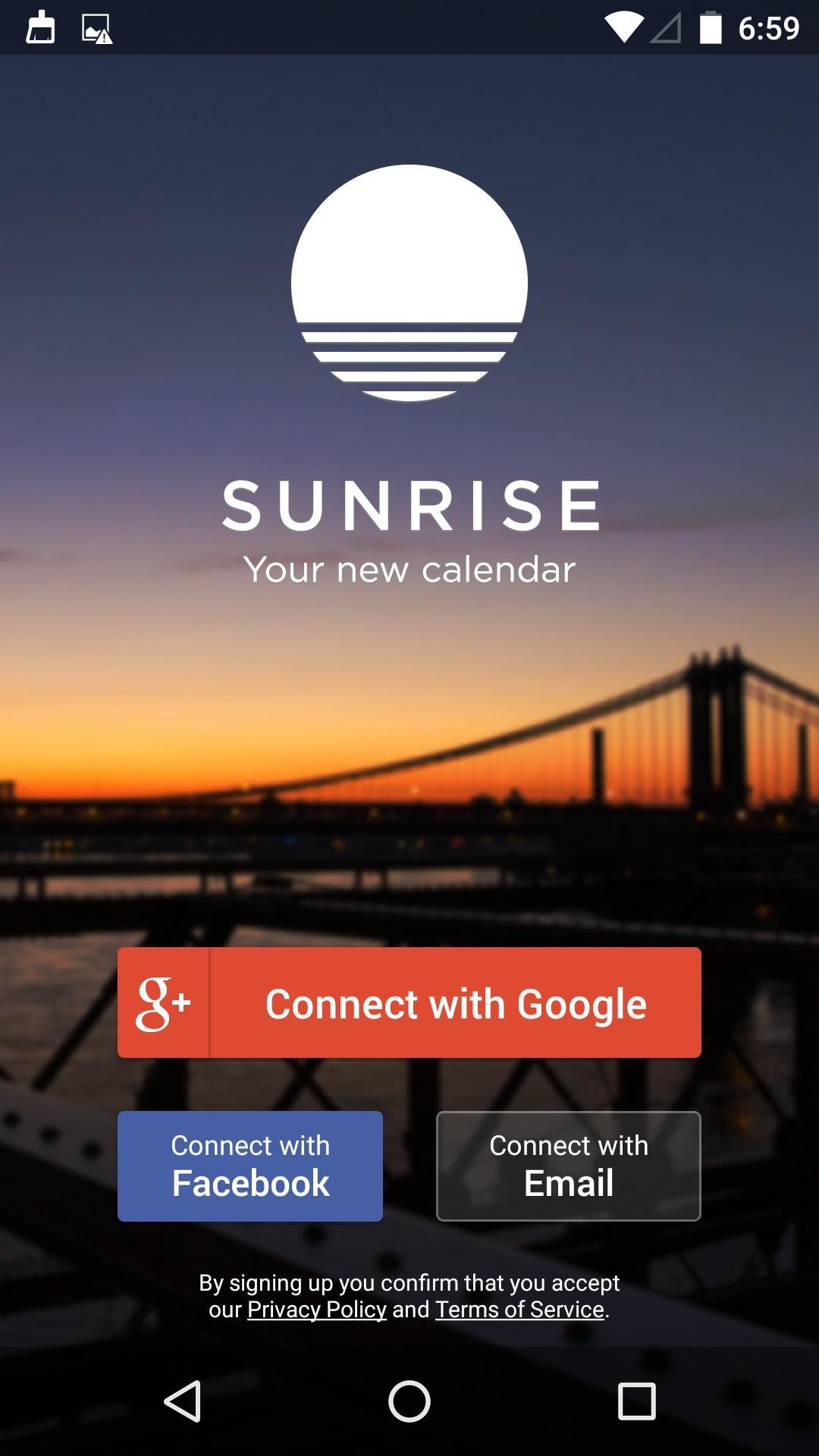 Sunrise Calendar  注册